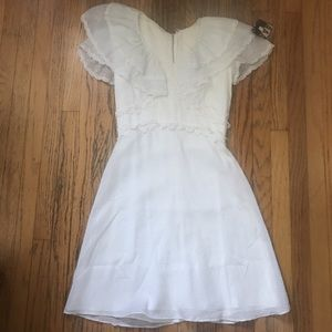 vintage white eyelet lace broderie anglaise dress